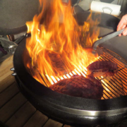 feuer am grill